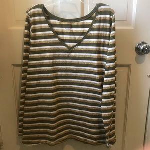 Lane Bryant striped t-shirt